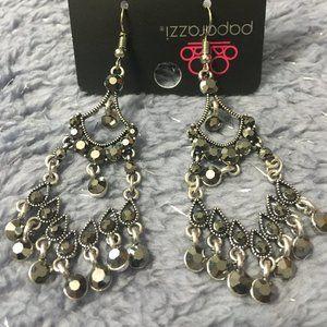*3 for $10* Paparazzi Silver w/Gunmetal Earrings